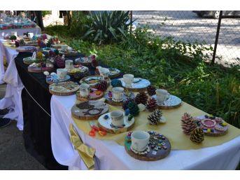 Kozan'da Özel Eğitim Öğrencilerinden Taş Boyama Sergisi