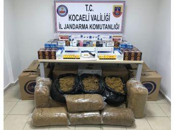 Kocaeli'de Kaçak Sigara Operasyonunda 2 Kişi Tutuklandı