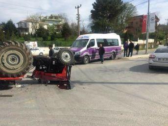 Bir Kişinin Öldüğü Traktör Kazasının Güvenlik Kamerası Ortaya Çıktı