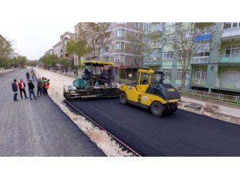 Kırşehir'de Asfaltlama Çalışmaları Devam Ediyor