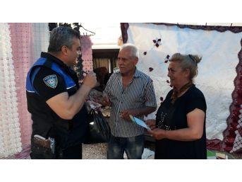 Polisten Esnaf Ve Vatandaşa Uyarı