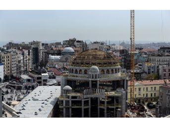 (özel Haber) Taksim Camii İnşaatında Son Durum Havadan Görüntülendi