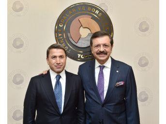 Siirt Tso Heyeti, Tobb Başkanı Hisarcıklıoğlu'nu Ziyaret Etti