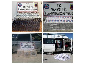 Van'da 15 Bin 150 Paket Kaçak Sigara Ele Geçirildi