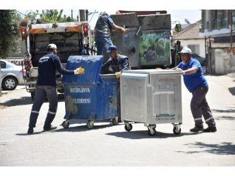 İncirliova'da Çöp Konteynırları Yenileniyor
