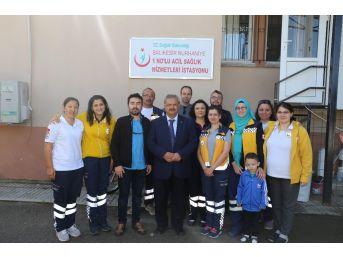 Başkan Uysal 112'yi Ziyaret Etti