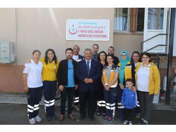 Başkan Uysal'dan 112 Acil Servis İstasyonu'na Ziyaret