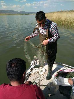 Eğirdir Gölü'ndeki Kaçak Avcılık Denetiminde Tekne Ve 800 Metre Uzatma Ağ Ele Geçirildi
