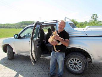 Kamyonette Mahsur Kalan Kedi, Çilingir Yardımıyla Kurtarıldı