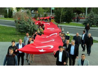 57. Alay Kayseri'de Dev Türk Bayrağıyla Anıldı