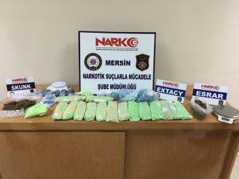 Mersin'de 17 Bin 400 Adet Uyuşturucu Hap Ele Geçirildi