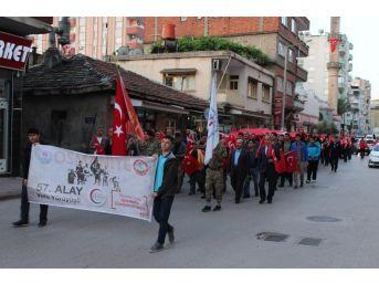 Osmaniye'de 57. Alay Anma Vefa Yürüyüşü