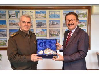 Korgeneral Ali Sivri''den Başkan Tiryaki'ye Ziyaret