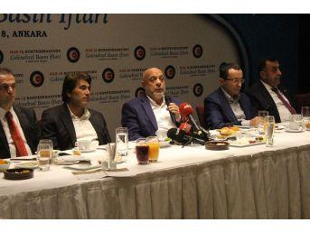 Hak-iş Genel Başkanı Arslan, Basın Mensuplarıyla İftarda Buluştu