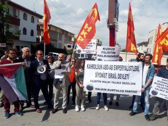 İsrail'in Ankara Büyükelçiliği Önünde Eylem