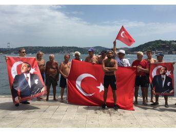 Boğazın Serin Sularına Atlayıp, Türk Bayrağı Açtılar