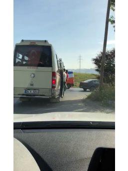 (özel) Avcılar'da Minibüsteki Tehlikeli Yolculuk Kamerada