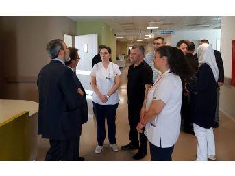Şehir Hastaneleri Koordinasyon Daire Başkanı Sayit Çelebi Kayseri Şehir Hastanesi'nde İncelemede Bulundu