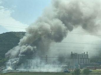 Yalova'da Fabrika Yangını