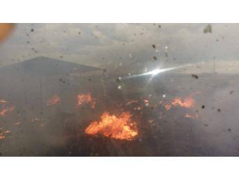 Kahta Çöplüğünde Yangın