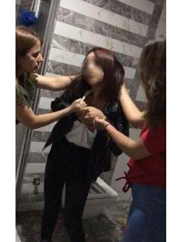 İş Yeri Basıp Arkadaşlarını Döven Kızlar Gözaltına Alındı