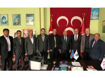 Başkan Gülbey, Mhp Gevaş Başkanı Altıntaş'ı Ziyaret Etti