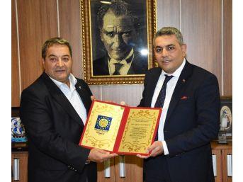 Sadıkoğlu'na Onursal Üyelik Belgesi