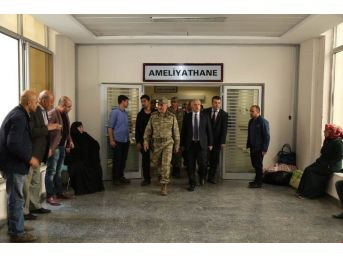 8. Kolordu Komutanı Korgeneral Erbaş'ın, Şehit Uslu'nun Ailesine Taziye Ziyareti