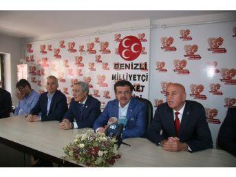 Bakan Zeybekci'den Mhp Denizli İl Başkanlığına Ziyaret