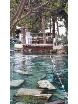 Pamukkale'de Antik Havuzda Duvar Çöktü