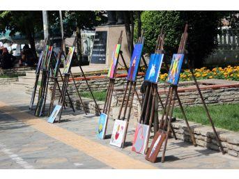 Köy Okulunda Yapılan Eserler Menteşe'de Sergilendi