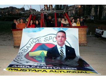Ali Koç'un Fenerbahçe Başkanlığı Kapadokya'da Gökyüzünde Kutlandı