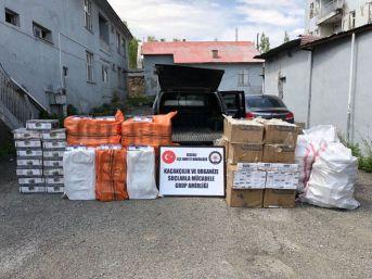 Van'da Kaçak Nargile Tütünü Ve Sigara Operasyonu