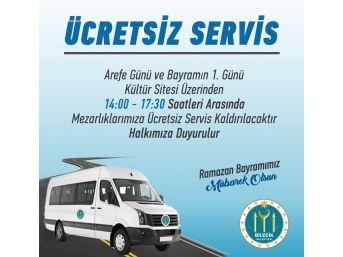 Bilecik Belediyesi'nden Mezarlıklara Ücretsiz Servis Hizmeti