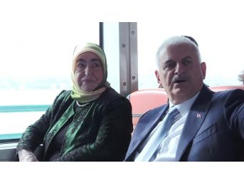 Başbakan Yıldırım, Miting Alanına Vapurla Geldi