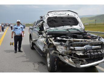 İyi Parti Mitinginden Dönen Konvoyda Kaza: 1 Yaralı