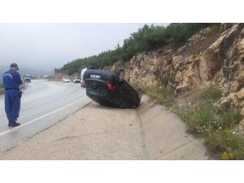 Bilecik'te Otomobil Takla Attı: 5 Yaralı