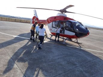 Ambulans Helikopter Hızır Gibi Yetişiyor