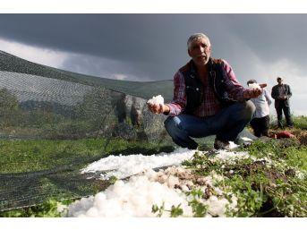 Erzurum'da Dolu Seraları Vurdu