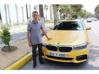 500 Bin Liralık Lüks Otomobili Taksiye Çevirdi