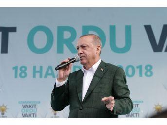 """Cumhurbaşkanı Erdoğan: """"fındık Üreticisini Mağdur Etmeyeceğiz"""""""
