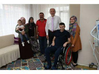 Başkan'dan Gazi Coşkun Özyurga'ya Ziyaret