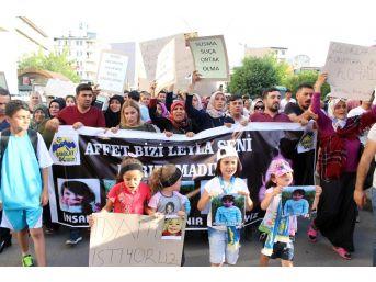 Ağrı'da Yüzlerce Vatandaş Leyla Ve Eylül İçin Yürüdü