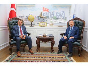 Meb Strateji Geliştirme Başkanı Konaklı'dan Gürkan'a Ziyaret