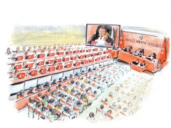 15 Temmuz Şehitler Davasında 34 Şehit İçin 34 Türk Bayrağı Salona Getirildi
