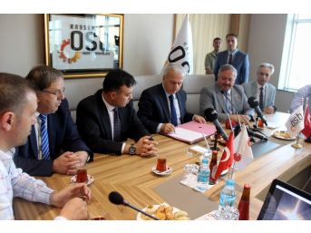 Kayseri Osb İle Oran Kalkınma Ajansı Arasında Uluslararası Fuarcılık Ve Kongre Merkezi İçin Protokol İmzalandı