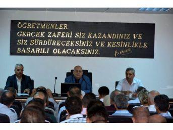 Milli Eğitim Müdürü Yavuz Okul Müdürleri İle Toplantı Yaptı