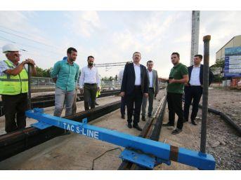Genel Sekreter Bayram, Sekapark - Plajyolu Tramvay Çalışmasını İnceledi