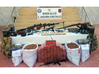 Jandarma Ekiplerinin Arama Yaptığı 2 Evde Silah Ve Mühimmat Ele Geçirildi