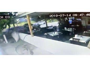 Kontrolden Çıkan Araç Pansiyon Bahçesine Daldı: 3 Yaralı